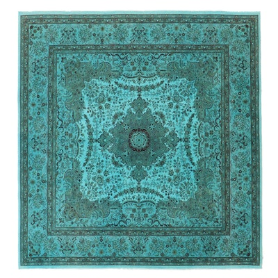 8' x 8'6 Hand-Knotted Pakistani Overdyed Area Rug