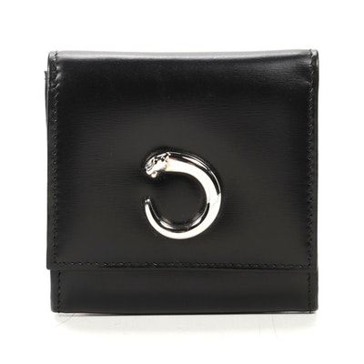 Cartier Panthere Coin Case in Black Leather