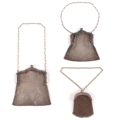 Metal Mesh Frame Bags and Reticule Coin Purse