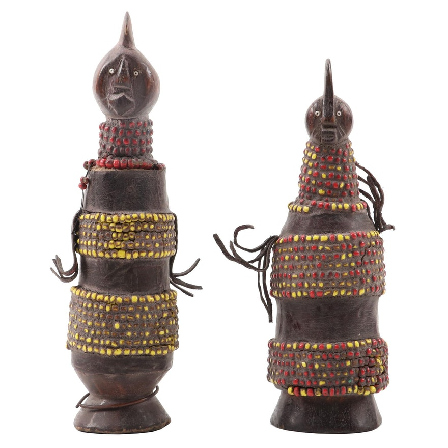 Namji Style Hand-Carved Dolls, Cameroon