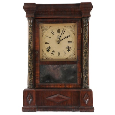 Seth Thomas Rosewood Ogee Mantel Clock, Mid-19th Century
