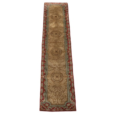 2'7 x 12'0 Hand-Knotted Indo-Persian Numani Wool Carpet Runner
