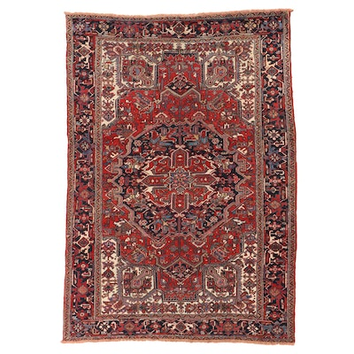 7'7 x 10'10 Hand-Knotted Persian Heriz Room Sized Rug