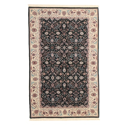 5' x 8'4 Hand-Knotted Indian Floral Area Rug