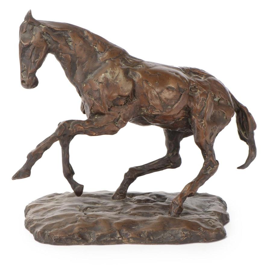 """Bronze-Toned Resin Sculpture after Kaiko Moti """"Golden Eye"""""""