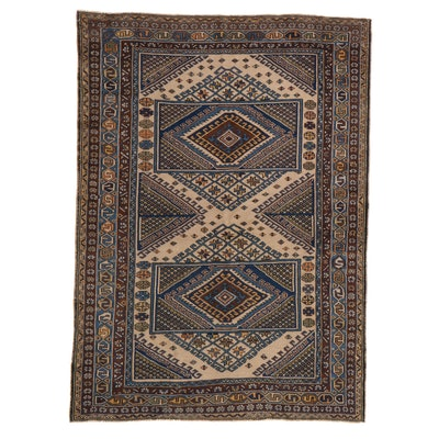5'5 x 7'6 Hand-Knotted Turkish Village Area Rug