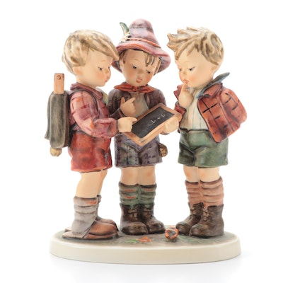 "Goebel Hummel ""School Boys"" Porcelain Figurine, Late 20th Century"