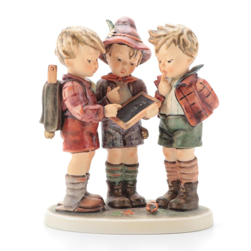 "Goebel Hummel ""School Boys"" Porcelain Figurine, Late 20th Century"