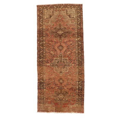 4' x 9'8 Hand-Knotted Persian Heriz Wool Long Rug