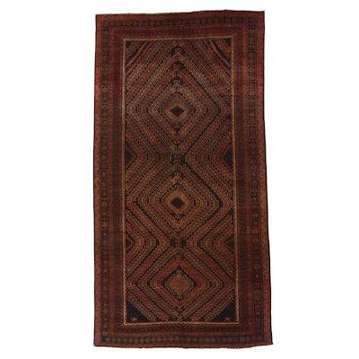 7' x 14'2 Hand-Knotted Afghan Baluch Wool Area Rug