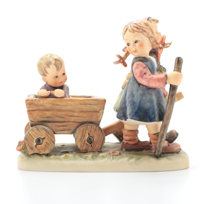"Goebel Hummel Century Collection ""Pleasant Journey"" Porcelain Figurine, 1987"