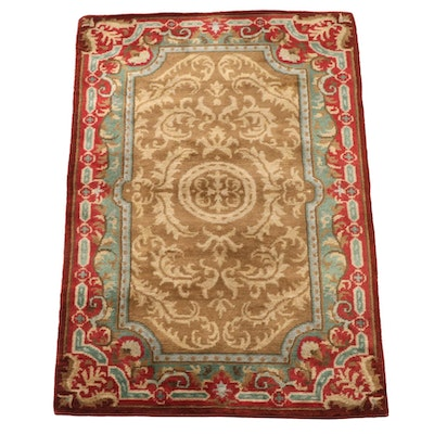 4'0 x 6'1 Hand-Knotted Indo-Persian Numani Wool Area Rug