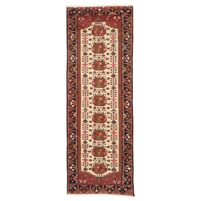 3'5 x 9'9 Hand-Knotted Persian Shahsevan Wool Long Rug