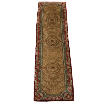 2'9 x 10' Hand-Knotted Indo-Persian Wool Carpet Runner