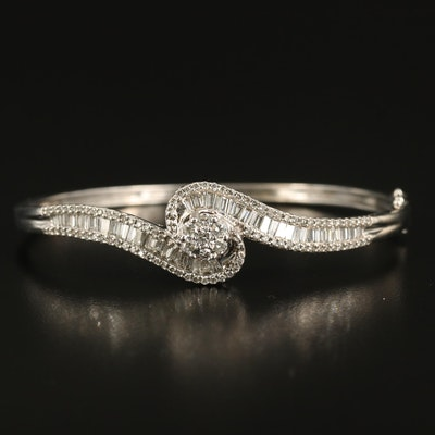 14K 2.46 CTW Diamond Hinged Bracelet