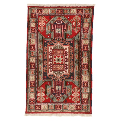 3'1 x 5'3 Hand-Knotted Indo-Caucasian Kazak Rug, 2010s