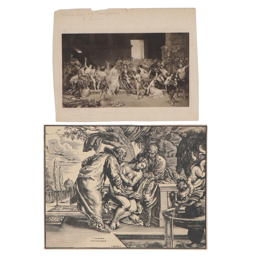Lithographs after Christoffel Jegher and Gustavo Simoni, Early-Mid 20th Century