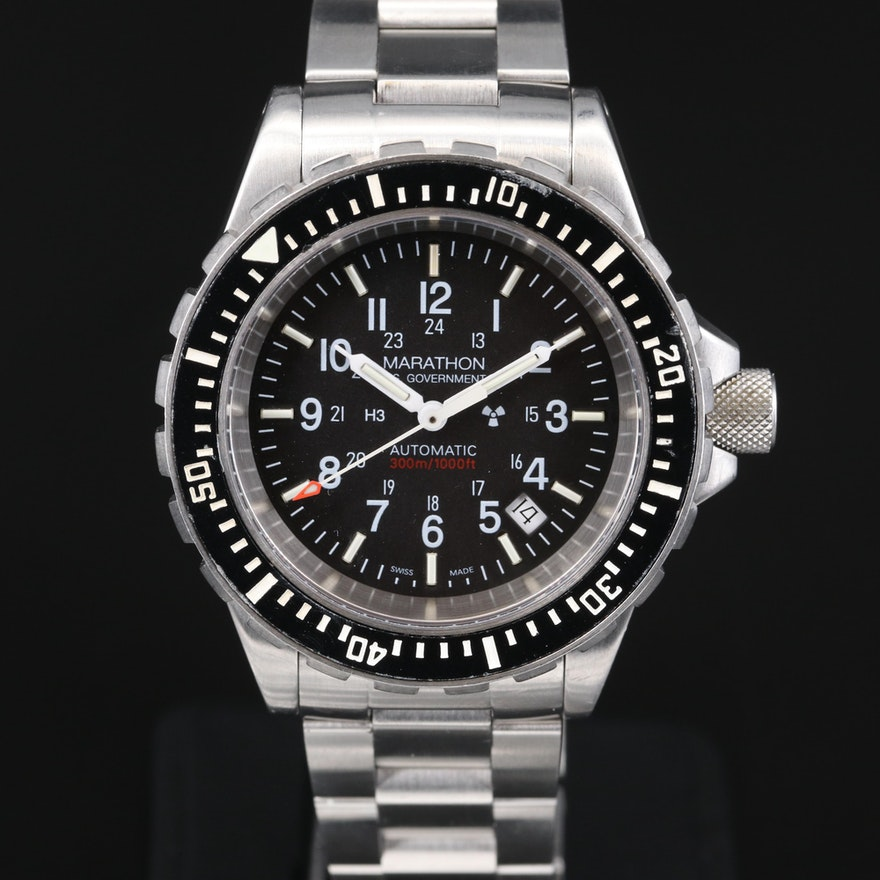 Marathon GSAR Diver's Stainless Steel Automatic Wristwatch