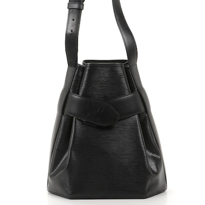 Louis Vuitton Sac d'Epaule in Black Epi Leather