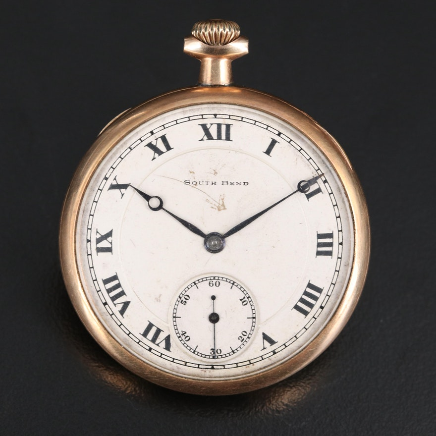 """1920 South Bend """"Chesterfield"""" Pocket Watch"""