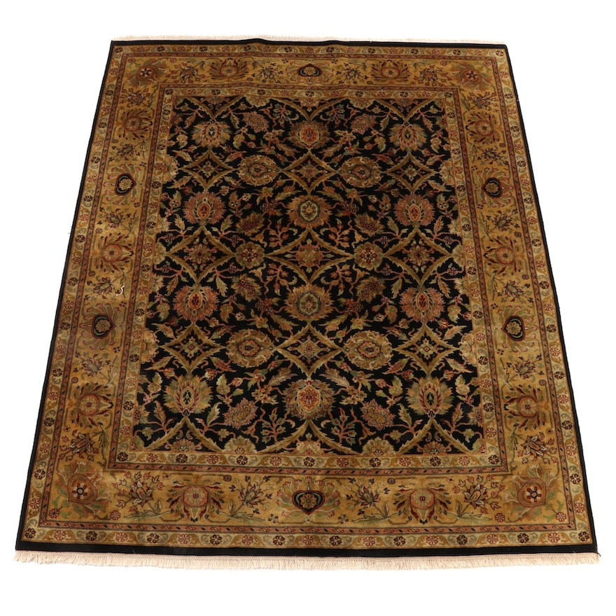 8' x 10'6 Hand-Knotted Indian Mahal Wool Area Rug