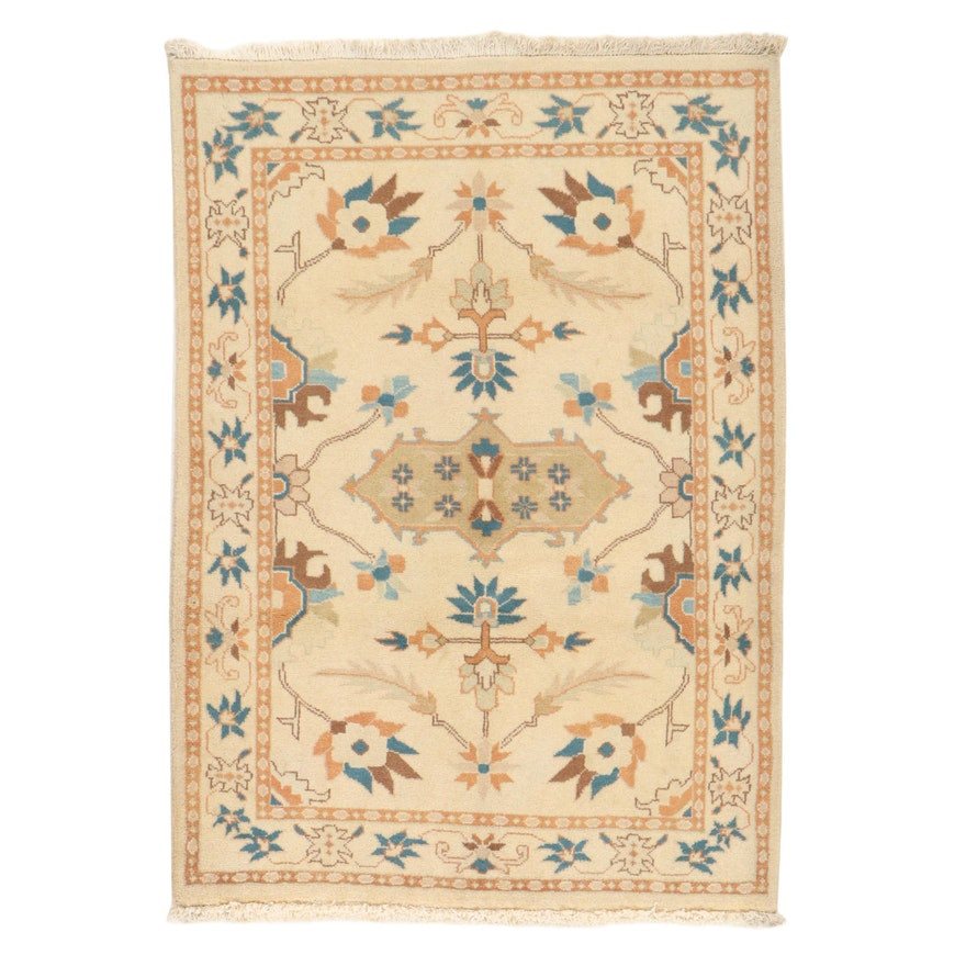 3'5 x 4'11 Hand-Knotted Persian Tabriz Rug, 2000s