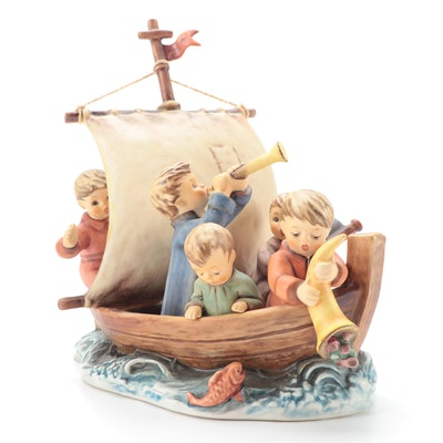 """Goebel Hummel Limited Edition """"Land In Sight"""" Porcelain Figurine, 1992"""