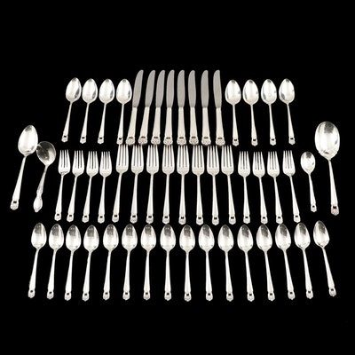"1847 Rogers Brothers ""Eternally Yours"" Silver Plate Flatware, Mid-Late 20th C."