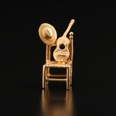 14K Chair with Guitar and Pendant