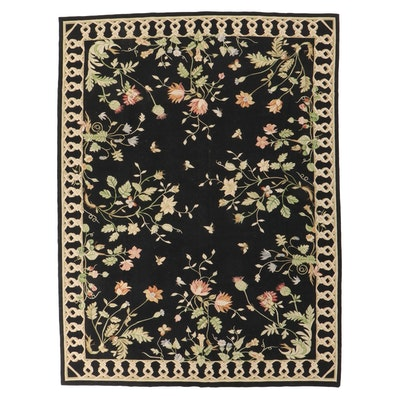 8'11 x 11'10 Handwoven Chinese Aubusson Style Wool Room Sized Rug
