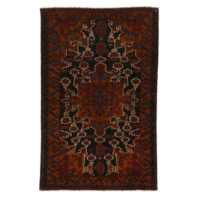 2'9 x 4'3 Hand-Knotted Persian Baluch Rug, 2000s