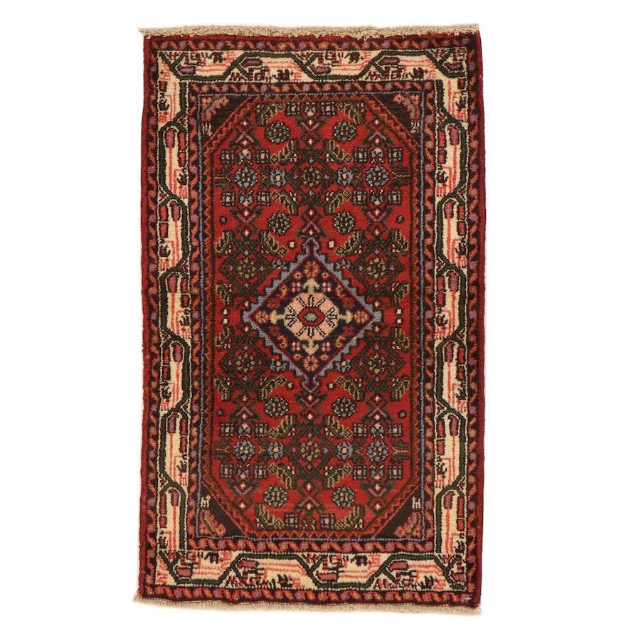 2'5 x 4'1 Hand-Knotted Persian Zanjan Rug, 1970s