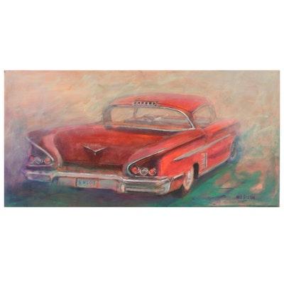 "Ned Stern Acrylic Painting ""'58 Impala,"" Late 20th Century"