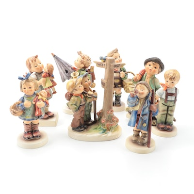 "Goebel Hummel ""Crossroads,"" ""Merry Wanderer,"" and Other Porcelain Figurines"