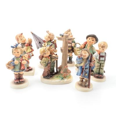 "Goebel Hummel ""Crossroads,"" ""Merry Wanderer,"" and Other Porcelain Figurines"