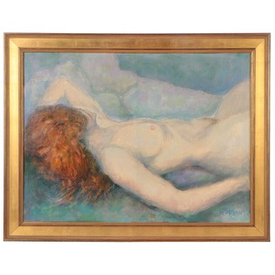 """Ned Stern Acrylic Painting """"Afternoon Nap,"""" 2007"""