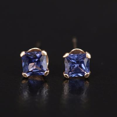 10K Cubic Zirconia Stud Earrings