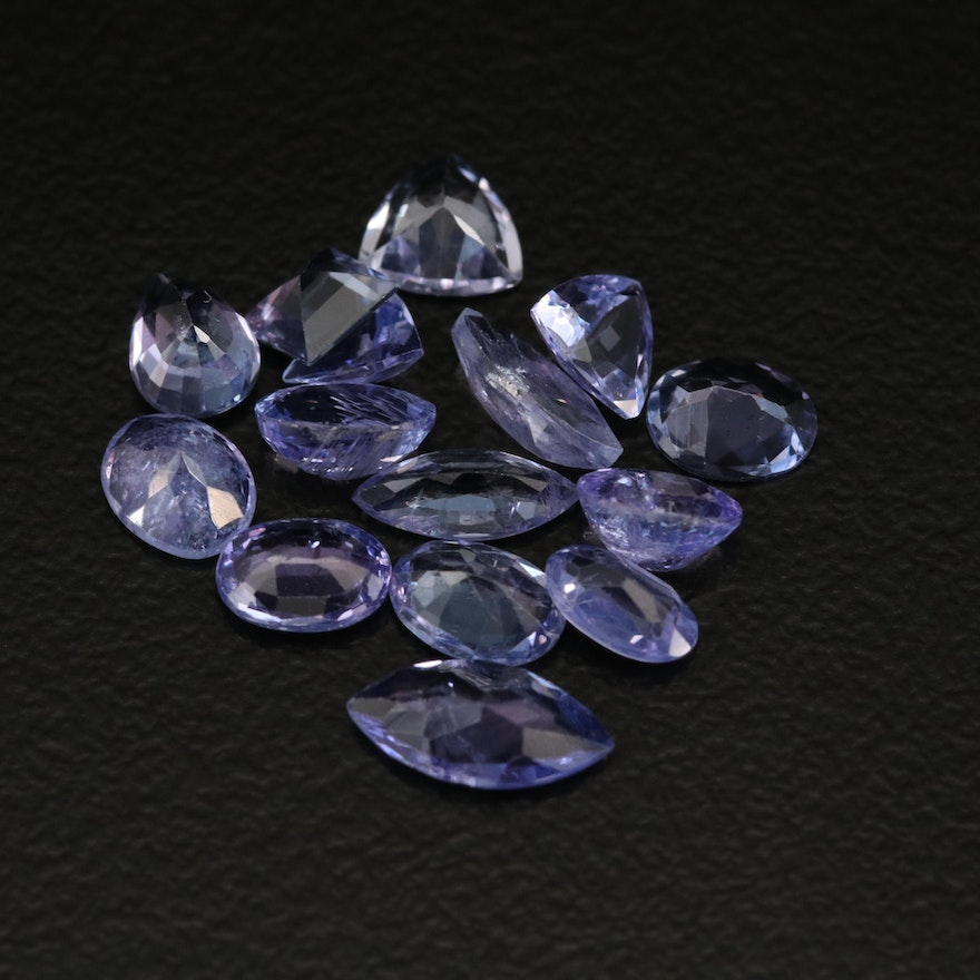 Loose 5.18 CTW Mixed Faceted Tanzanite