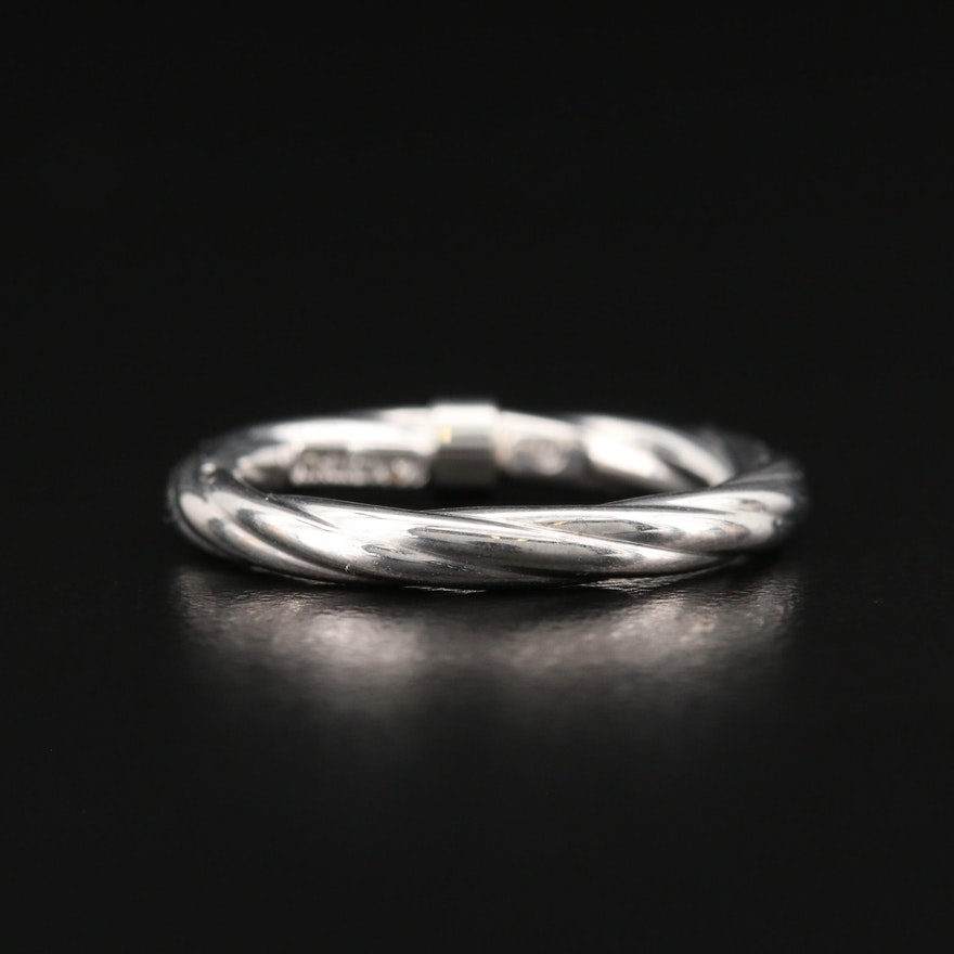 Italian 14K Twisted Cable Band