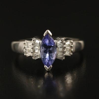 14K Tanzanite and Diamond Ring