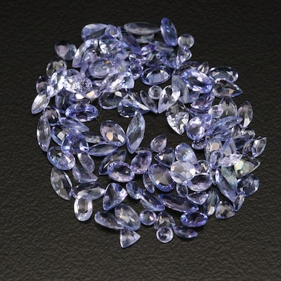 Loose 16.81 CTW Mixed Faceted Tanzanite