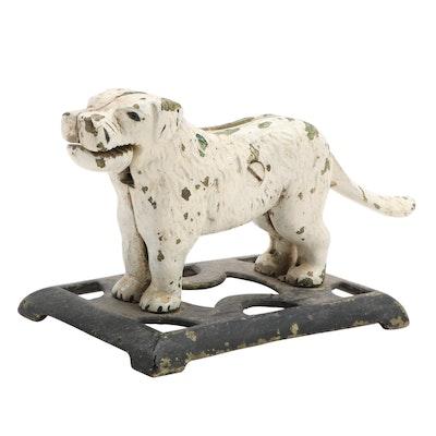 Cast Iron Painted Dog Shaped Nutcracker, Early 20th Century
