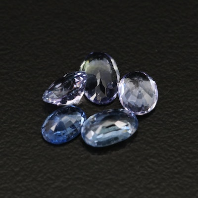 Loose 3.88 CTW Oval Faceted Sapphires and Tanzanites