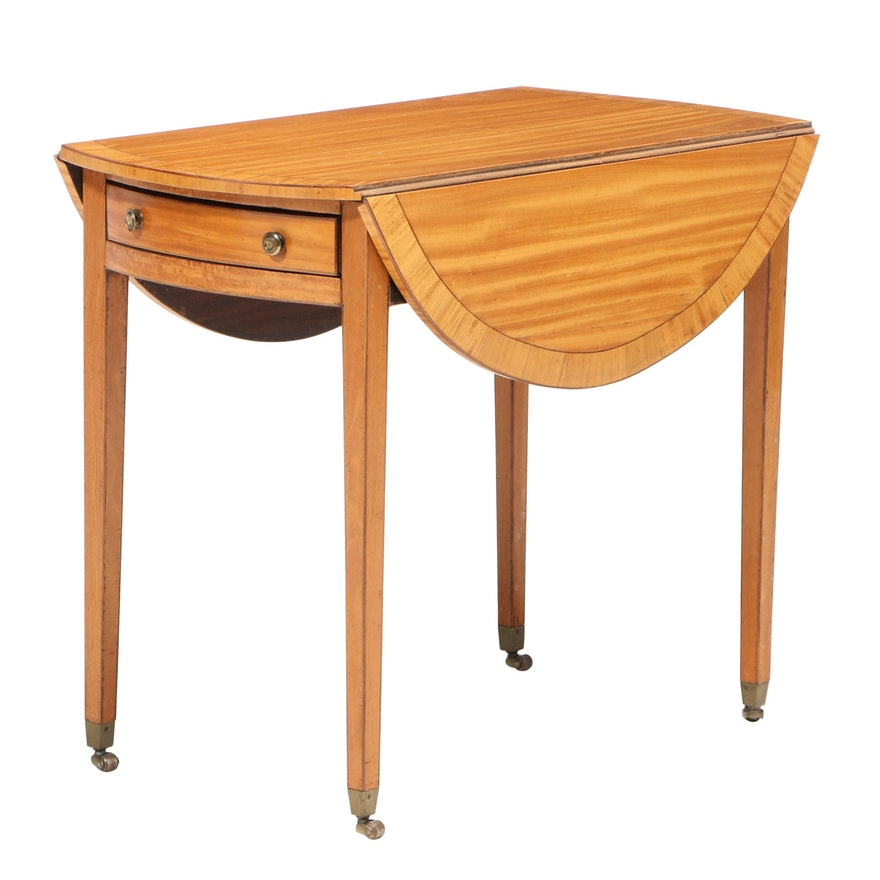 George III Satinwood Pembroke Table, Early 19th Century