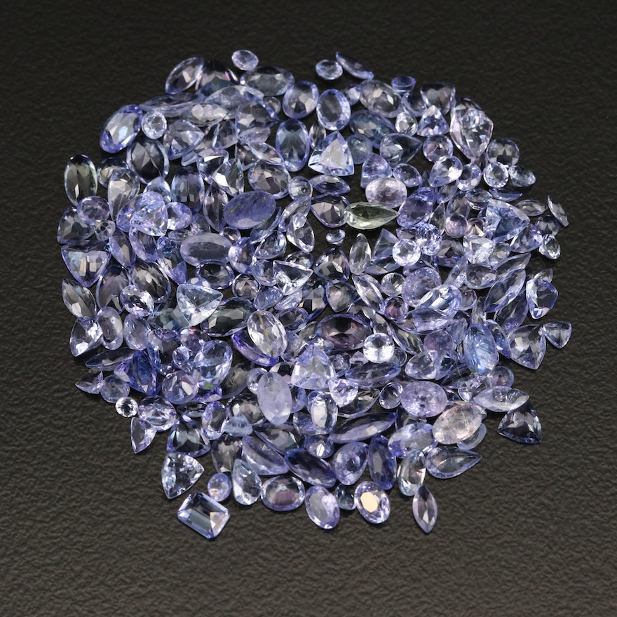 Loose 27.42 CTW Mixed Faceted Tanzanites