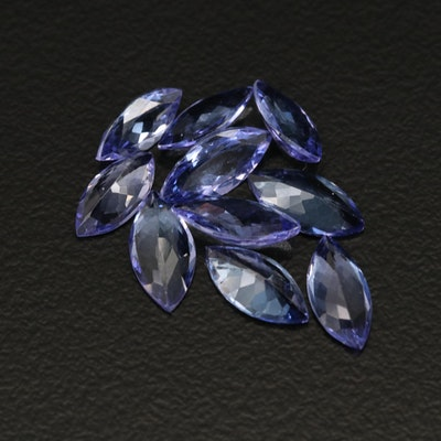 Loose 5.84 CTW Marquise Faceted Tanzanites