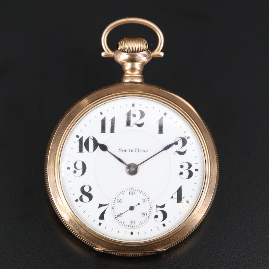 "1910 South Bend ""The Studebaker"" Pocket Watch"