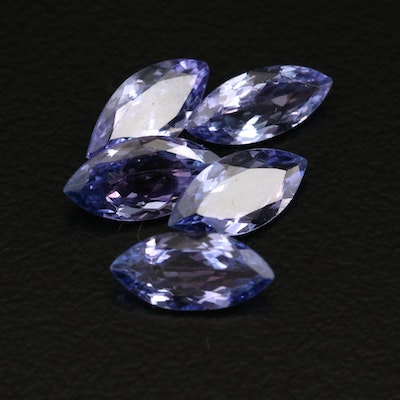 Loose 4.64 CTW Marquise Faceted Tanzanites