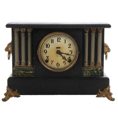 E. Ingraham Adamantine Mantel Clock, Early 20th Century