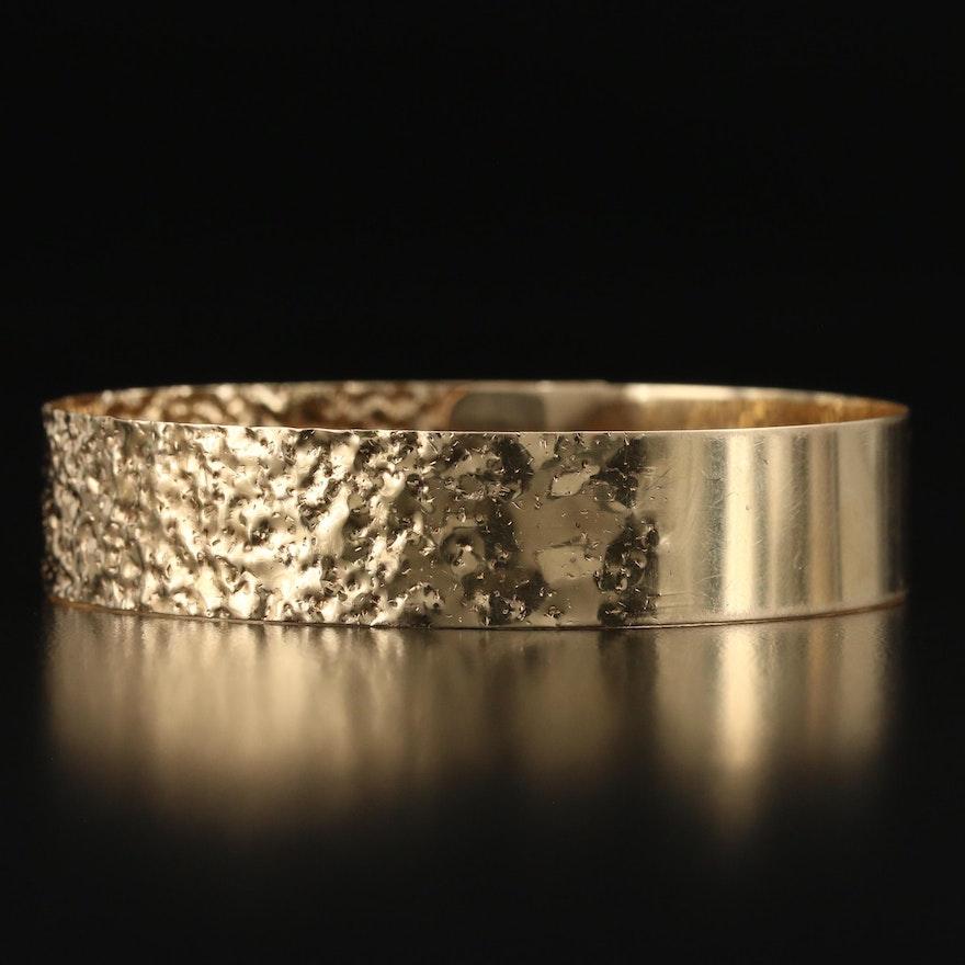14K Textured Bracelet